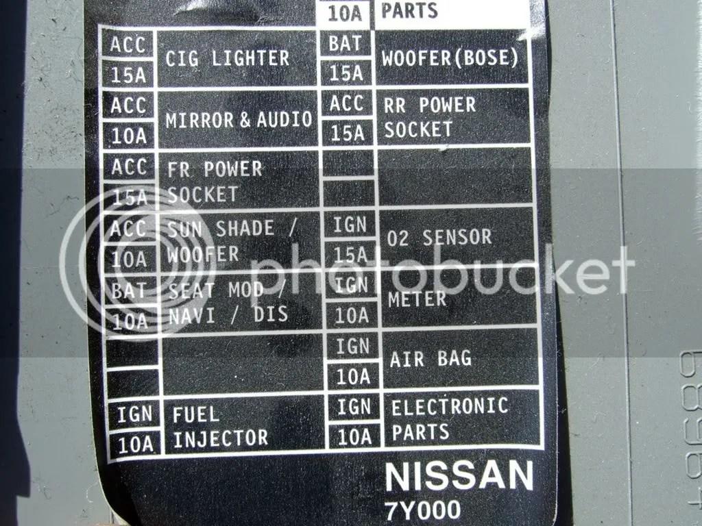 350z Bose Wiring Diagram Cigarette Lighter Amp Power Maxima Forums
