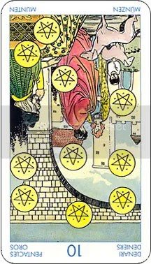 Ten of Pentacles card reversed Pictures, Images and Photos