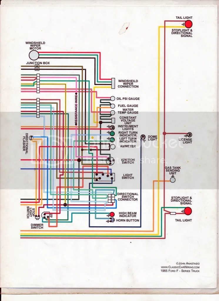 1961 ford f100 wiring diagram color1961 Ford F100 Wiring Diagram For Color #20