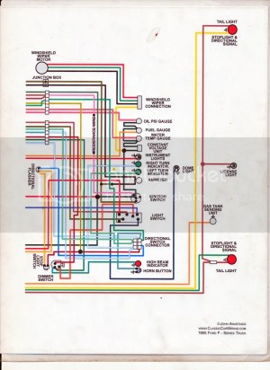 65 F100 thru F750 exterior wiring diagram  Ford Truck