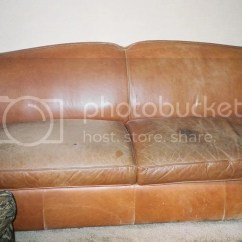 Cat Urine On Leather Sofa Long Knight Grey Reclining Aniline Sauvage How To Restore An Of 1 2 Stain