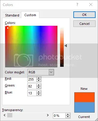 Figure 7. Customize your object's color with More Custom Colors tool.