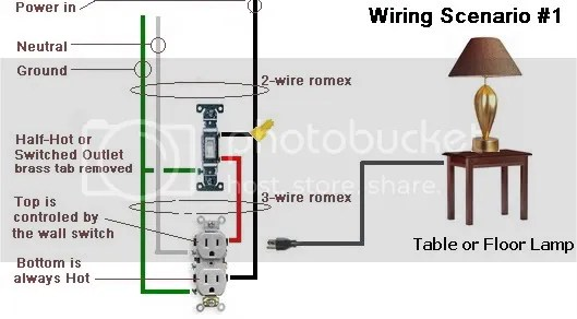 wiring diagram for a switched outlet apexi power meter different ways to wire controlled by switch? - electrical diy chatroom home ...