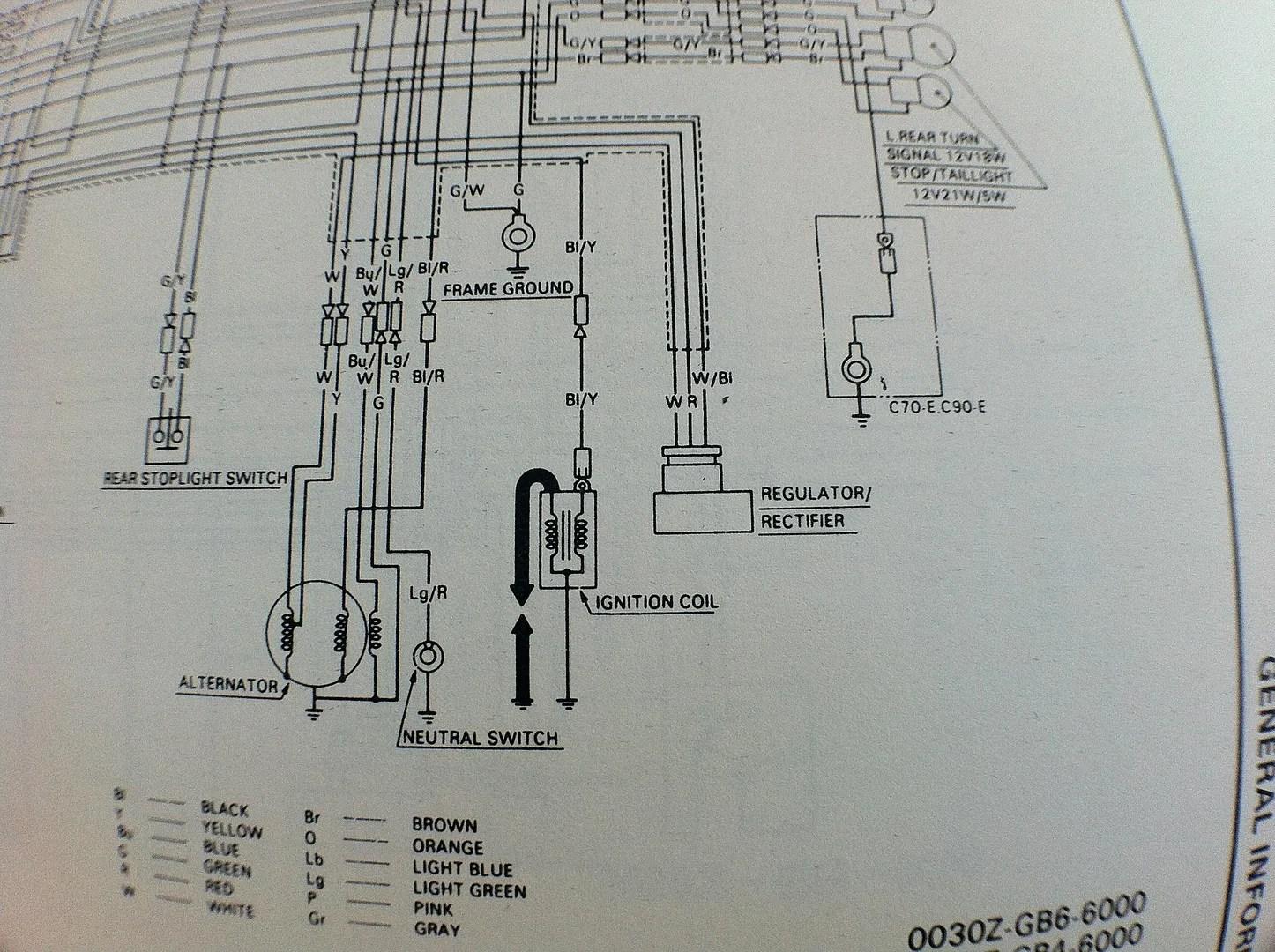 Honda C90 Wiring Diagram 6v