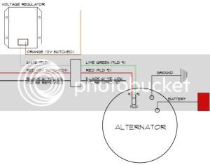 Wiring harness question (voltage regulator  alternator