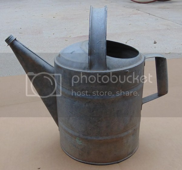 Vintage Metal Watering Can with Spout