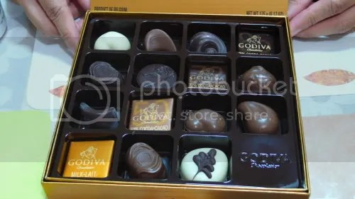 A closer look at the chocolates