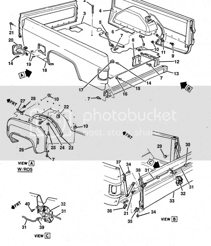Chevy Tailgate Handle Parts Diagram • Wiring Diagram For Free