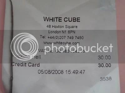 white cube receipts