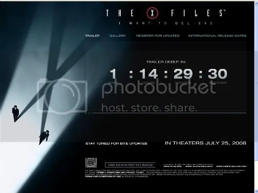 screenshot x-files sitio oficial