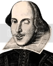Image result for shakespeare winking