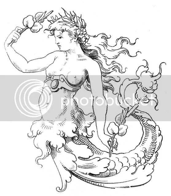 L.T. Piver Cuir as a mermaid