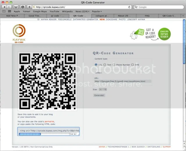 Another Free Website for Creating QR Codes
