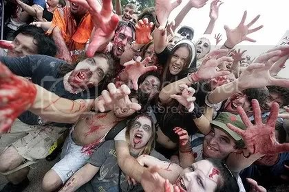 Australian protester zombies