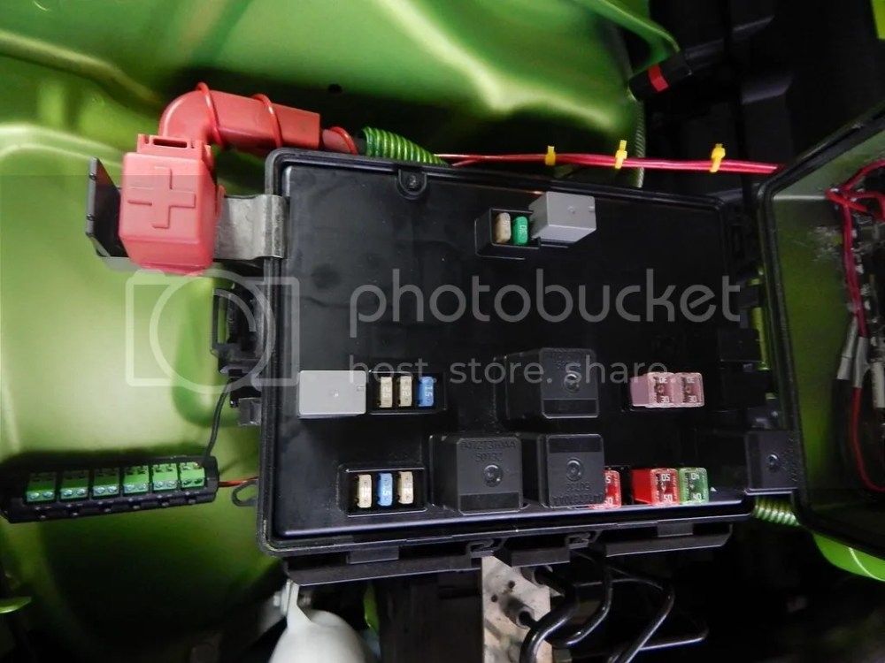 medium resolution of here are pictures of the dead space in my fuse box opened and closed views