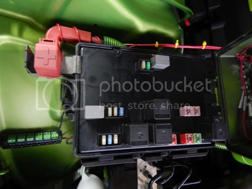 small resolution of here are pictures of the dead space in my fuse box opened and closed views