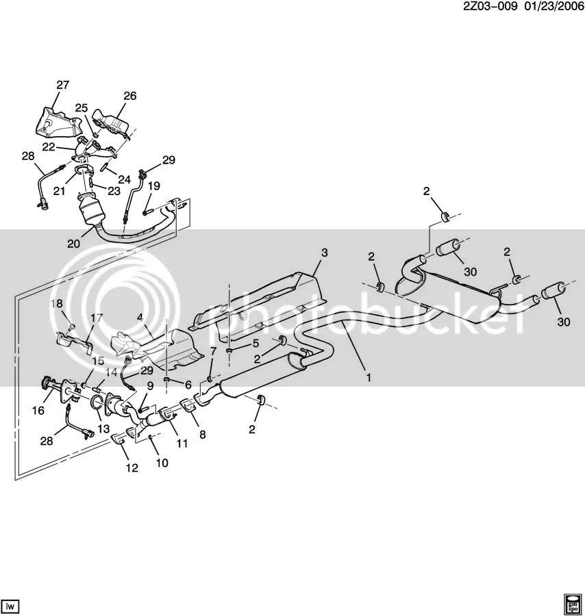 2006 pontiac g6 exhaust system diagram wiring schematic diagram