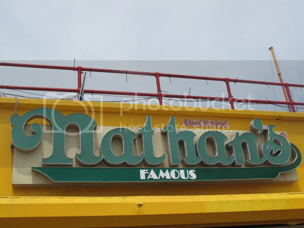 Nathan's Famous Hot Dogs.