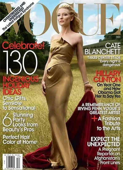 Cate Blanchett for US Vogue cover December 2009
