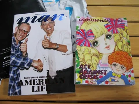 Commons&Sense Man and Commonse & Sense Japan Magazine Spring Summer 2009, Terry Richardson and Barack Obama cover