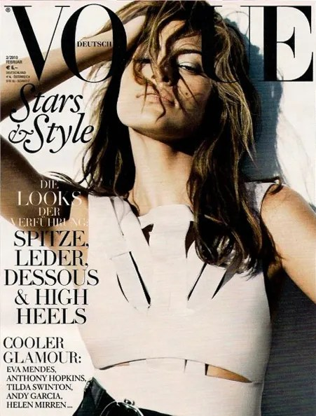 Eva Mendes for Vogue Germany Cover February 2010