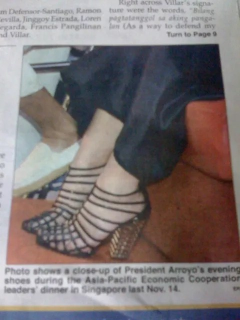 Gloria Macapagal Arroyo shoes
