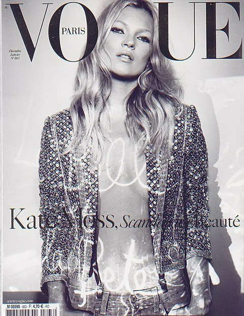 Kate Moss Vogue Paris December 2005 Scandaleuse Beauty cover