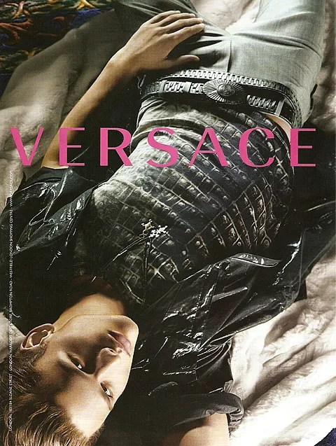 Simon Nessman for Spring Summer 2010 Versace ad campaign