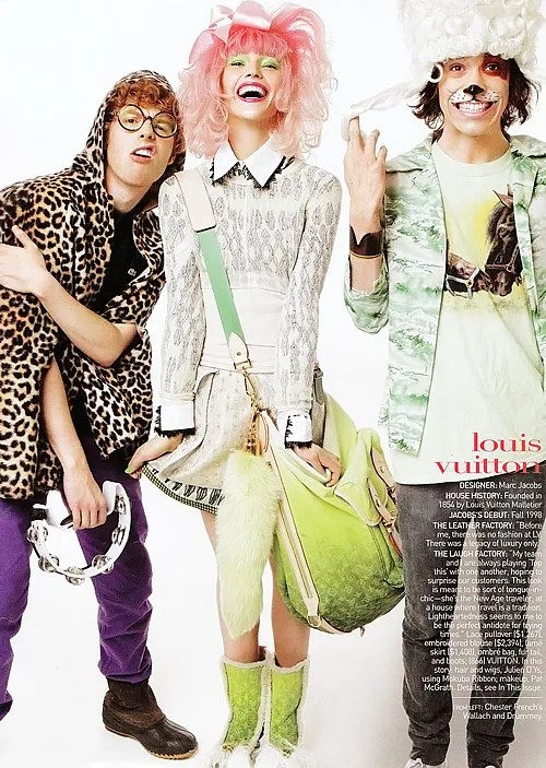 Vogue January 2010 Louis Vuitton Bag and Chester French