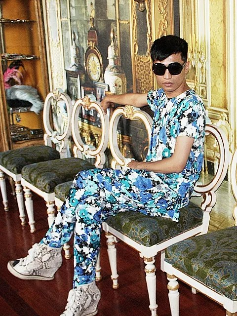 Bryanboy at Anna Dello Russo's apartment