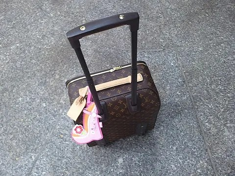 Anna Dello Russo's Louis Vuitton luggage
