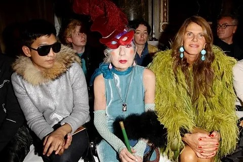 Bryanboy, Anna Piaggi and Anna Dello Russo at Emilio Pucci Spring Summer 2011