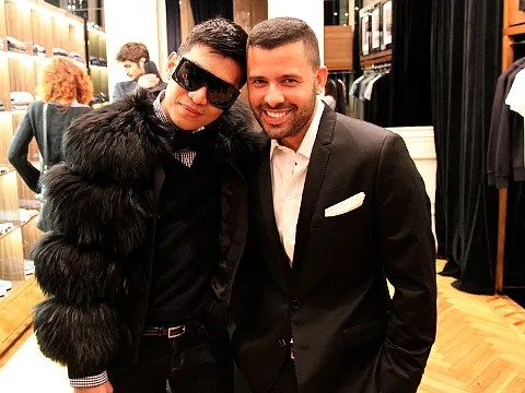 Bryanboy and Mariano Vivanco at Uomini