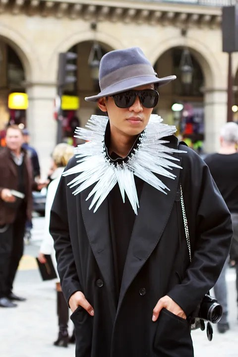 Bryanboy outside Miu Miu Spring Summer 2011