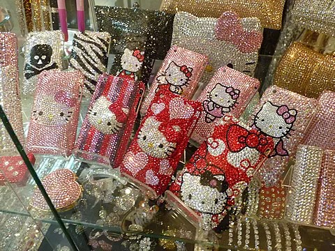 Hello Kitty Swarovski Crystal cellphone iphone cases covers