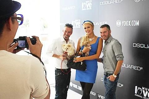 Dean and Dan Caten, Paris Hilton and Bryanboy
