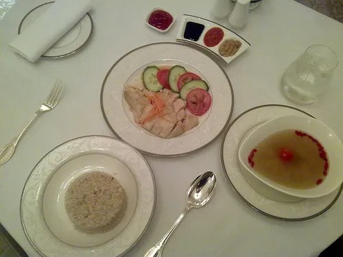 Hainanese Chicken Rice at St. Regis Hotel, Singapore