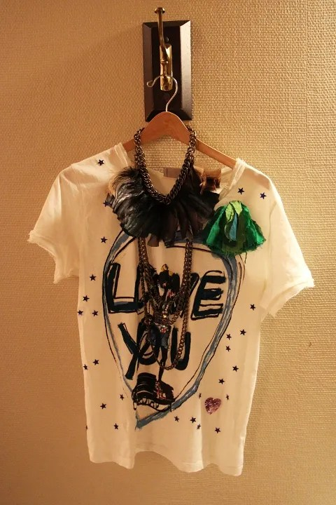 Lanvin t-shirt and Lanvin necklace