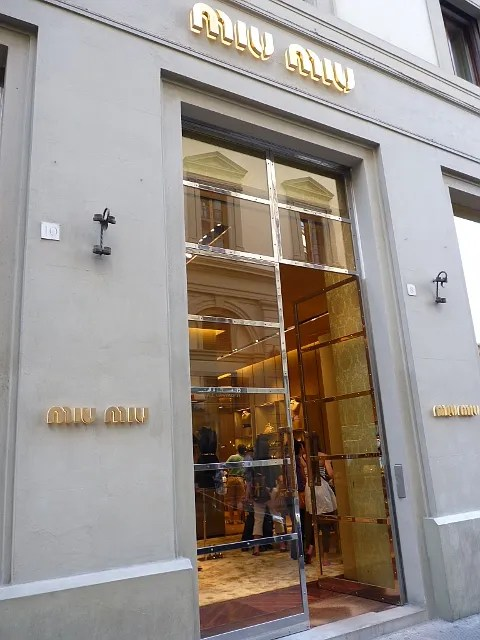 Miu Miu store Firenze, Italy