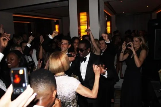 Anna Wintour and P Diddy at Boom Boom Room
