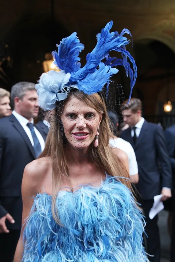 Anna Dello Russo outside Emilio Pucci spring summer 2012