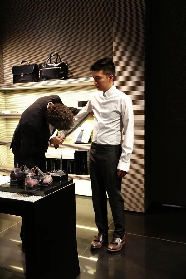 Bryanboy at Giorgio Armani Made to Measure