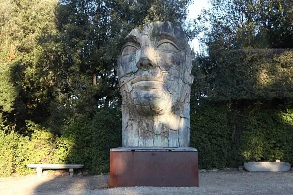 Tindaro Screpolato, Face Statue at Boboli Gardens, Florence