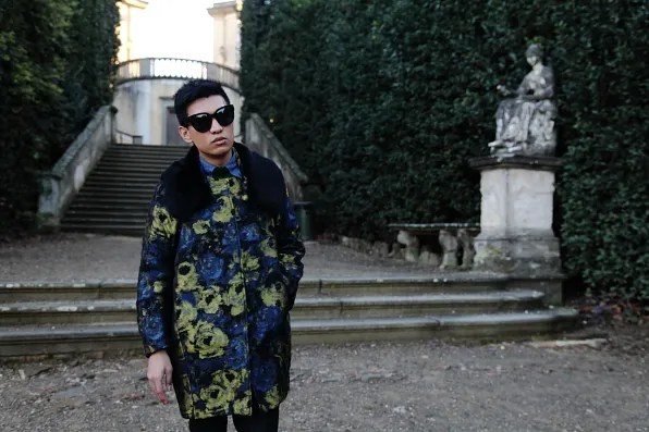 Bryanboy at the Garden of Cavalier, Boboli Gardens Florence