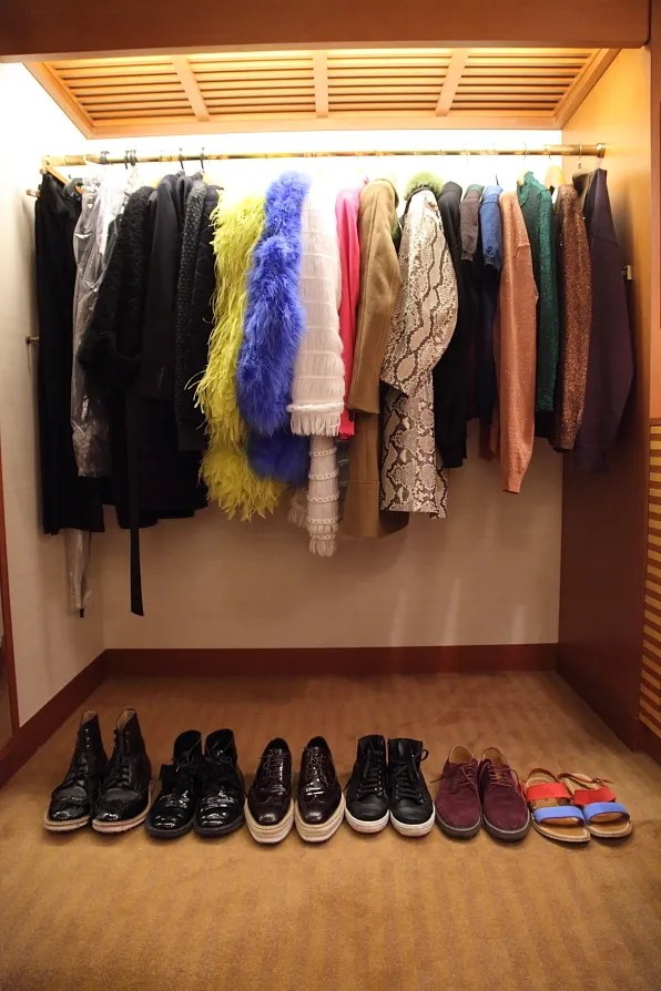 Bryanboy's closet at Peninsula Hotel Tokyo
