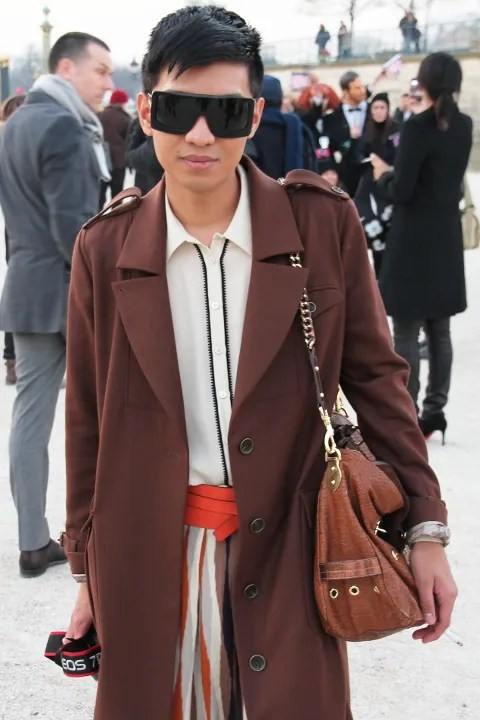 Bryanboy outside Lanvin Fall Winter 2011