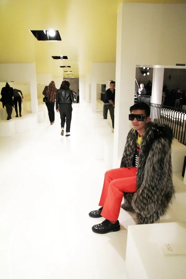Bryanboy sitting front row at Prada fall winter 2011 fashion show