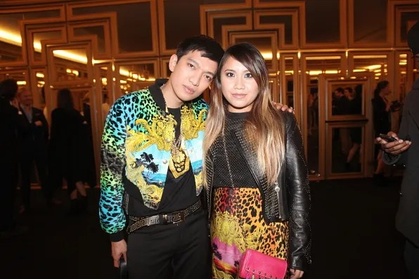 Bryanboy and Wendy Lam at Versace x H&M collaboration launch