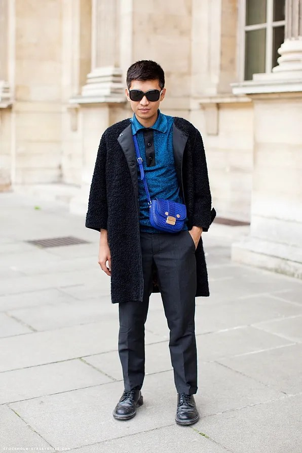 Bryanboy outside Louis Vuitton spring/summer 2012