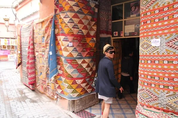 photo of Bryanboy shopping for carpets and rugs
